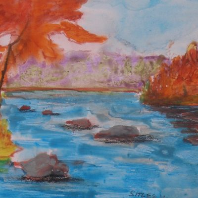 At waters edge, Autumn